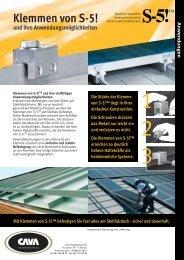 Klemmen von S-5! - CAVA Halbfabrikate AG
