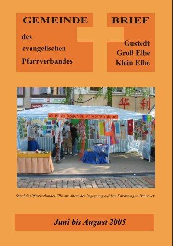 Als PDF - Evangelische Kirchengemeinden in Elbe