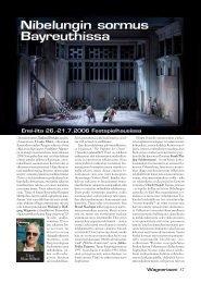 Nibelungin sormus Bayreuthissa - Suomen Wagner-Seura