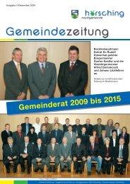 Gemeinderat 2009 bis 2015 - Schachverein Hörsching