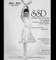 SSD 2009-2010 BROCHURE - Syracuse School of Dance