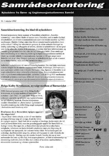 Samrådsorientering nr. 1 nyhedsbrev