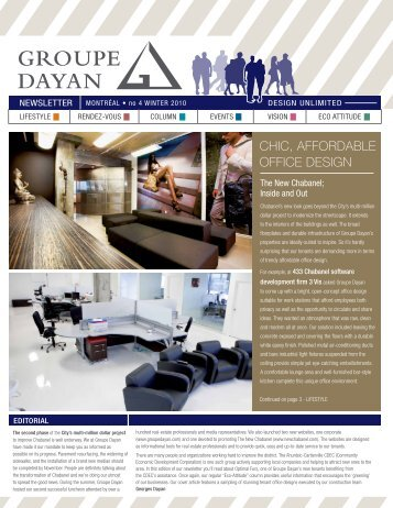 CHIC, AFFORDABLE OFFICE DESIGN - Groupe Dayan
