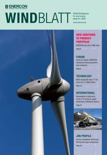 NEW ADDITIONS TO PRODUCT PORTFOLIO FORUM ... - Enercon