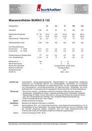 Wasserenthärter BURKO S 132 - Burkhalter AG