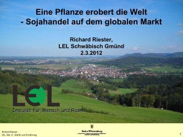 Eine Pflanze erobert die Welt - Sojahandel auf dem globalen Markt
