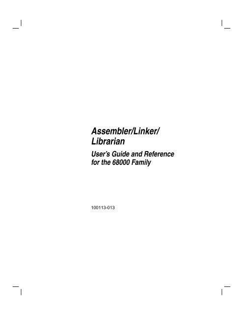 Assembler/Linker/ Librarian
