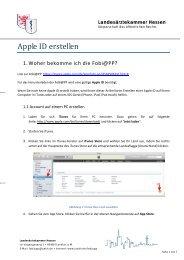 Apple ID erstellen - Landesärztekammer Hessen