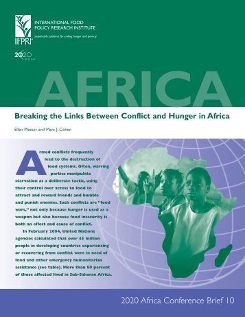Breaking the links between conflict and hunger in Africa