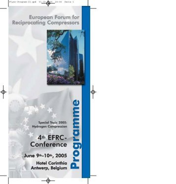 Conference - European Forum of Reciprocating Compressors