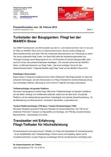 Fliegl auf der MAWEV-Show - MAWEV-Show 2012