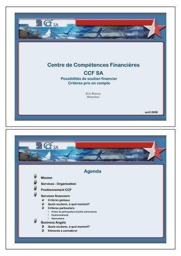 Cautionnements - CCF SA