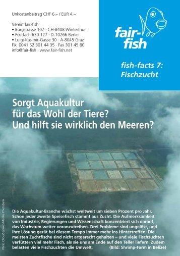 Sorgt Aquakultur für das Wohl der Tiere? Und hilft sie ... - Fair Fish