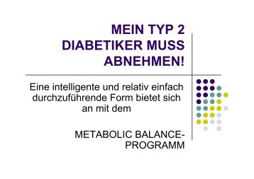 mein typ 2 diabetiker muss abnehmen! - Bayer Diabetes Care Schweiz