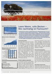 Sustainability Spotlight: Leere Meere, volle Becken - Bank Sarasin ...