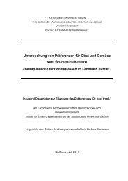 Untersuchung von Präferenzen für Obst und Gemüse von ...