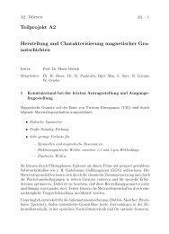 Herstellung und Charakterisierung magnetischer Granatschichten