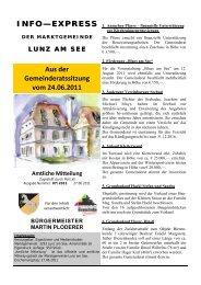 Info-Express Juni 2011 - Lunz am See