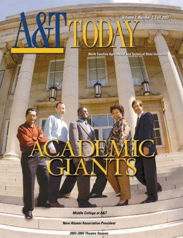 Volume 7, Number 1, Fall 2003 - North Carolina A&T State University