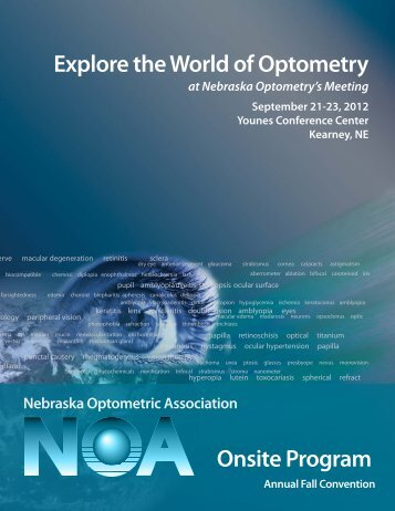 Explore the World of Optometry Onsite Program - Nebraska ...