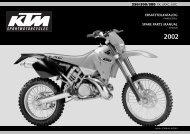 ersatzteilkatalog spare parts manual 250/300/380 sx, mxc, exc