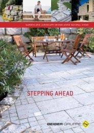 STEPPING AHEAD - H. Geiger GmbH Stein