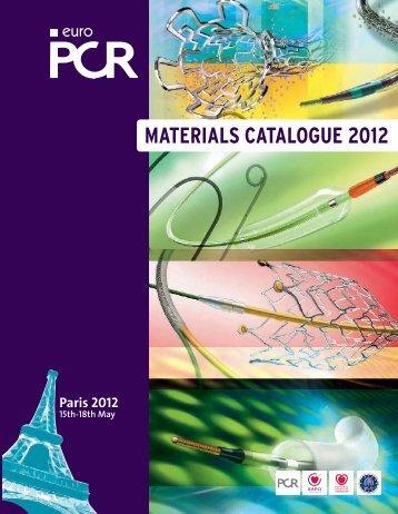 MATERIALS CATALOGUE 2012 - PCRonline