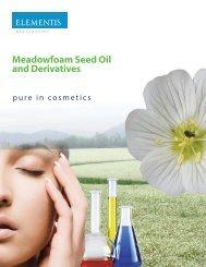 Meadowfoam Seed Oil And Derivatives - Elementis Specialties