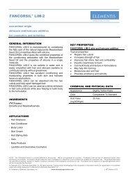 FANCORSIL LIM-2 - Elementis Specialties