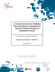 A Generic Structure for Modeling Time and Energy ... - Verimag