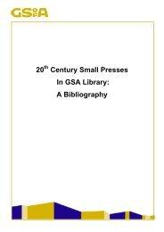 Twentieth Century Small Presses