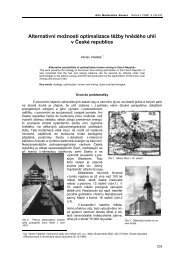 Alternativní možnosti optimalizace těžby hnědého uhlí - Acta ...