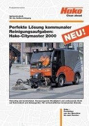 Hako-Citymaster 2000 - Stangl Reinigungstechnik GmbH