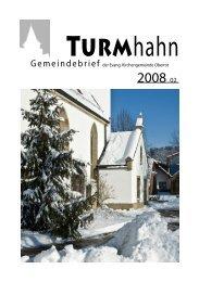 Turmhahn 2008-02 - Kirchenbezirk Gaildorf