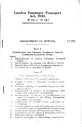 London Passenger Transport Act, 1933. - The Railways Archive