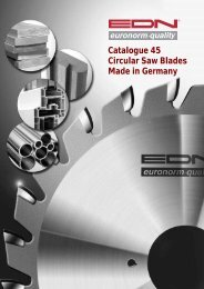Catalogue 45 Circular Saw Blades Made in Germany - EDN-Neuhaus