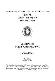 33rd Surf Sports Competition Manual - Brunswick Surf Life Saving ...