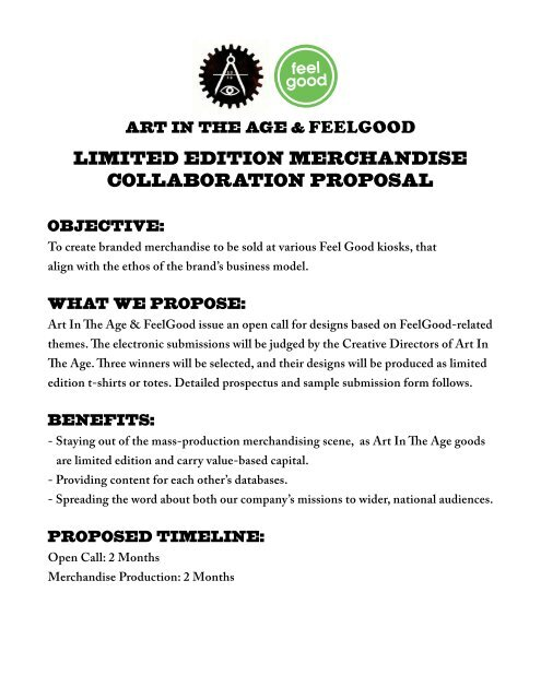 Limited Edition Merchandise Collaboration Proposal