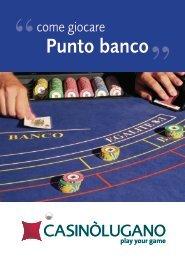 regolamento del Punto Banco - Casinò Lugano
