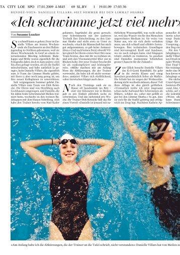 «Ich schwimme jetzt viel mehr» - Schwimmverein Limmat (SVL)