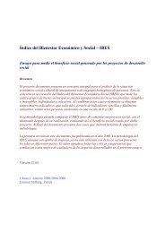 Índice del Bienestar Económico y Social – IBES - Limmat Stiftung