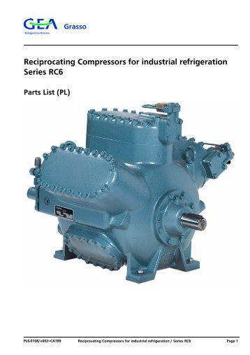 Reciprocating Compressors for industrial refrigeration Series RC6