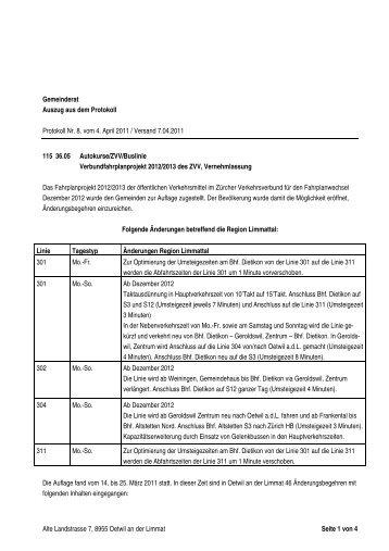 Alte Landstrasse 7, 8955 Oetwil an der Limmat Seite 1 von 4 ...