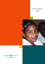 Annual Report 2005 - Limmat Stiftung
