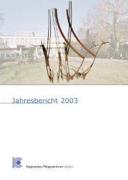 Jahresbericht 2003 (821KB) - Regionales Pflegezentrum Baden