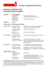Detailprogramm Mehrzweckhalle - Schule Würenlos