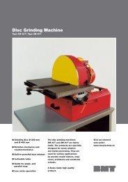 Disc Grinding Machine - Imex Technik AG