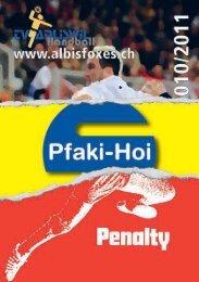 Vereinsheft, erste Ausgabe, 2011 - Albis Foxes Handball