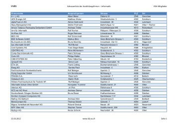 Adressenliste der Ausbildungsfirmen – Informatik VSIA Mitglieder ...