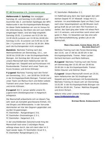 Vereinsnachrichten 090109.pub - Gemeinde Bisingen